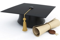 25353944 graduation cap diploma isolated on a white background