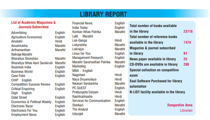 Library Department – P L  Shroff College
